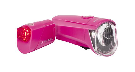 Trelock LS350 I-go Sport + LS710 Reego - Set de lampes - rose